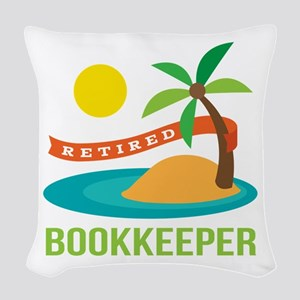 Retired Bookkeeper Woven Throw Pillow