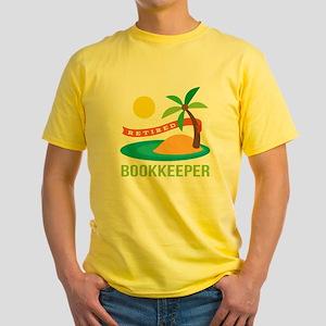 Retired Bookkeeper Yellow T-Shirt