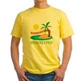 Retired bookkeeper Mens Classic Yellow T-Shirts
