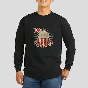 I Love Popcorn Long Sleeve T-Shirt