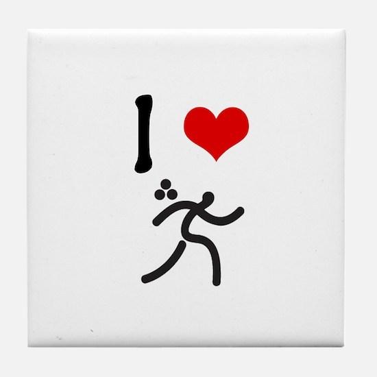 I love Triathlon Tile Coaster