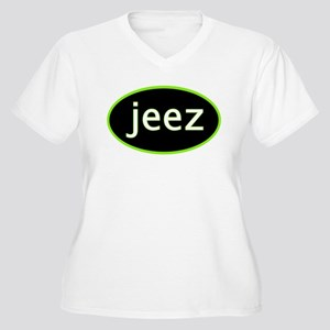 Jeez Women's Plus Size V-Neck T-Shirt