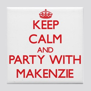 Keep Calm and Party with Makenzie Tile Coaster