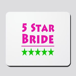 5 Star Bride Pink Green Middle Mousepad