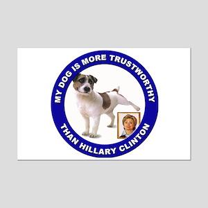 Anti Hillary Clinton Mini Poster Print