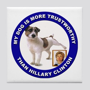 Anti Hillary Clinton Tile Coaster
