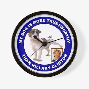 Anti Hillary Clinton Wall Clock
