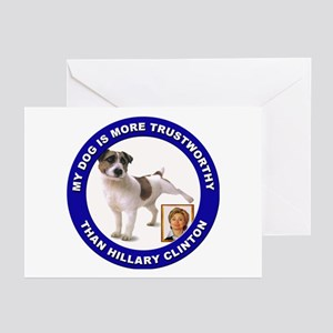 Anti Hillary Clinton Greeting Cards (Pk of 10)