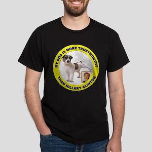Anti Hillary Clinton (Front) Dark T-Shirt