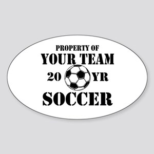 Personalized Property of Your Team Soccer Sticker