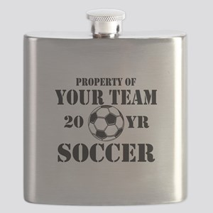 Personalized Property of Your Team Soccer Flask