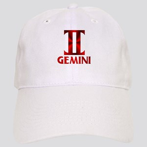 Red Gemini Astrological Symbol Cap
