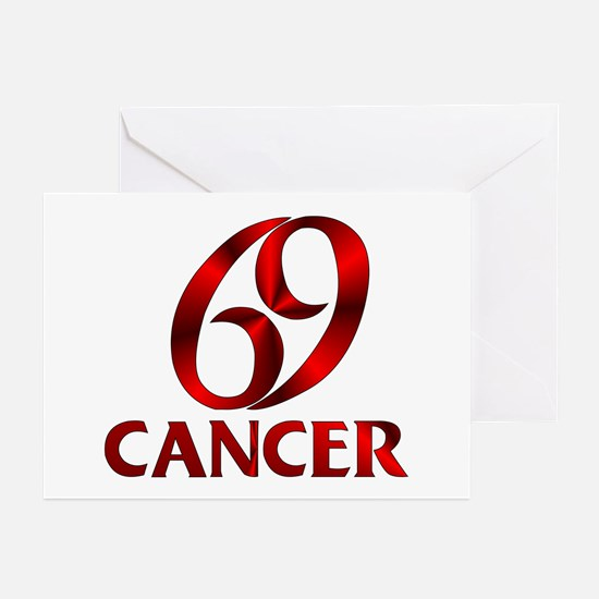 Red Cancer Astrological Greeting Cards (Pk of 10)