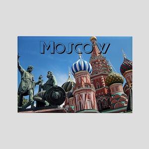 Moscow_11x9_Saint Basils Cathedra Rectangle Magnet