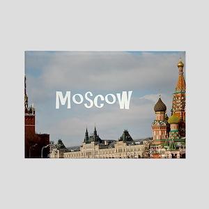 Moscow_12.2x6.64_Kremlin_StBasils Rectangle Magnet