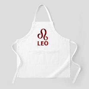 Red Leo Astrological Symbol Apron