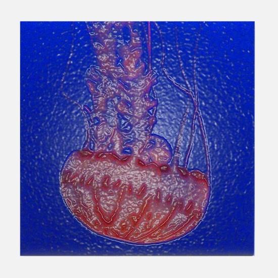 Jelly Fish 3 Tile Coaster