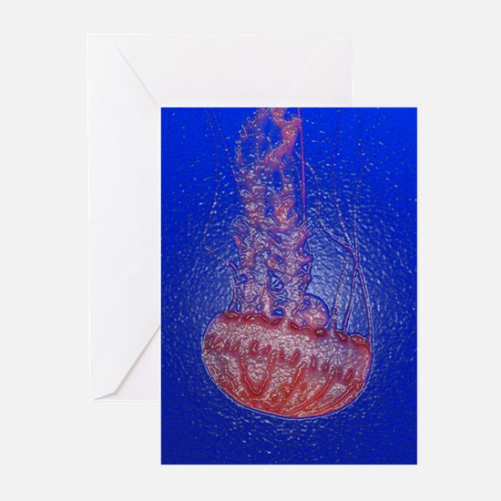 Jelly Fish 3 Greeting Cards (6)