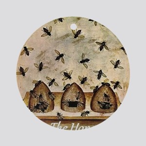 Save The Honeybee Round Ornament