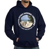 Lake michigan indiana Dark Hoodies