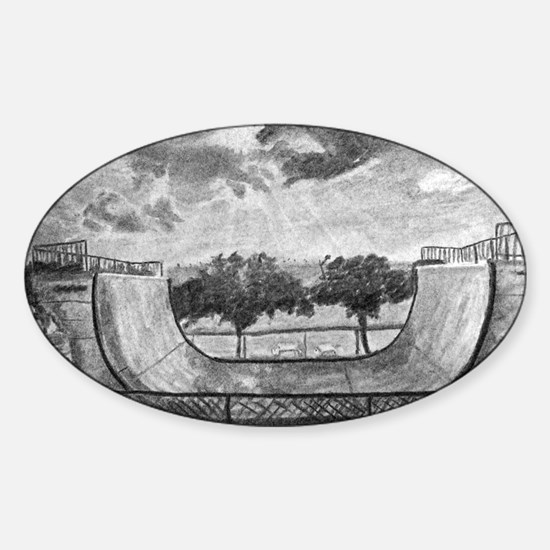 Mt. Trashmore Skate Ramp Sticker (Oval)