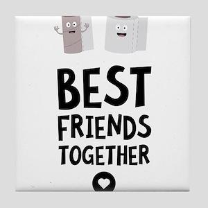 Toiletpaper Best friends Heart Tile Coaster