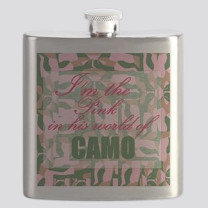 Pink Camo Flask