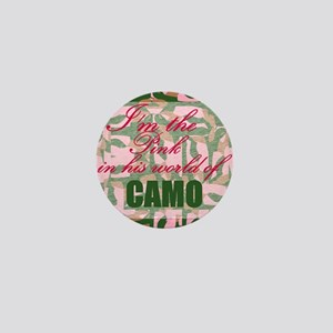 Pink Camo Mini Button