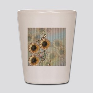 Country Sunflowers Shot Glass
