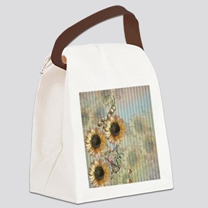 Country Sunflowers Canvas Lunch Bag