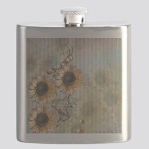 Country Sunflowers Flask