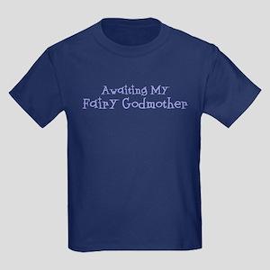 Awaiting My Fairy Godmother Kids Dark T-Shirt