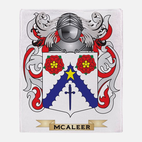 McAleer Coat of Arms - Family Crest Throw Blanket
