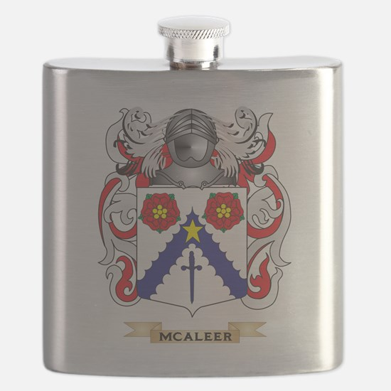 McAleer Coat of Arms - Family Crest Flask