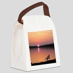 Lake Winnipesaukee Canvas Lunch Bag