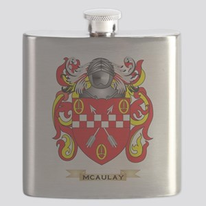 McAulay Coat of Arms - Family Crest Flask