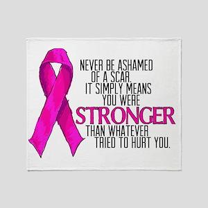 Stronger than a Scar Throw Blanket