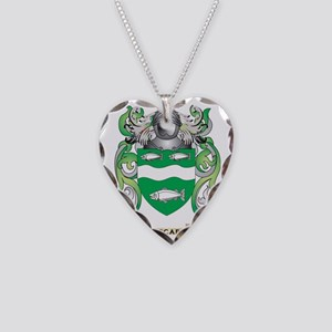 McCabe Coat of Arms - Family  Necklace Heart Charm