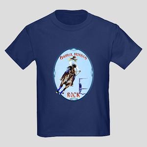Barrel Horses Rock Oval Trans T-Shirt