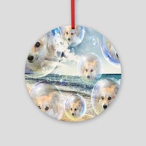 Beach Corgis Ornament (Round)