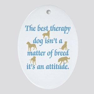 Best Therapy Dog Ornament (Oval)