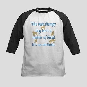 Best Therapy Dog Kids Baseball Jersey
