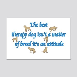 Best Therapy Dog Mini Poster Print