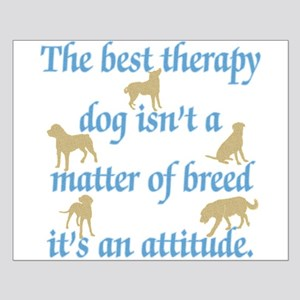 Best Therapy Dog Small Poster