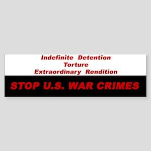 War Crimes Bumper Sticker