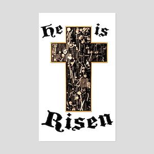 He Is Risen Cross Sticker