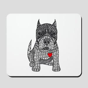 Devotion -American Pitbull Terrier 2 Mousepad