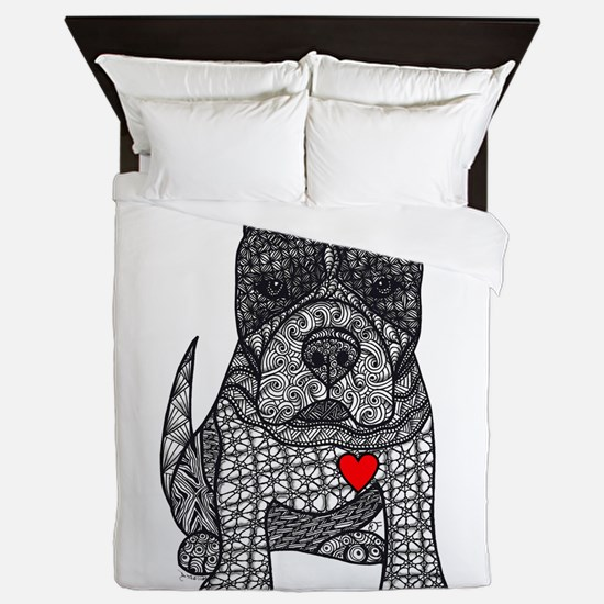 Devotion -American Pitbull Terrier 2 Queen Duvet