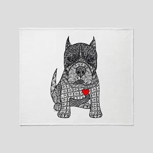 Devotion -American Pitbull Terrier 2 Throw Blanket