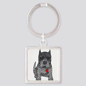 Devotion -American Pitbull Terrier 2 Keychains